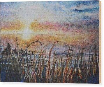 The Oregon Coast At Sunset Wood Print
