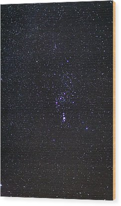 The Orion Constellation Wood Print by Laurent Laveder
