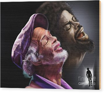 The Other Side-gil Scott Finally Going Home Wood Print by Reggie Duffie