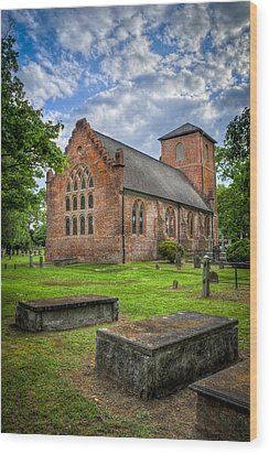 The Other Side Of St Lukes Wood Print by Williams-Cairns Photography LLC
