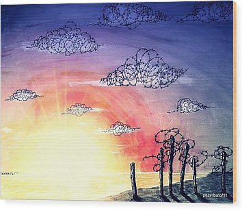 The Pain Of Sky That Will Never Be Calm Wood Print by Paulo Zerbato