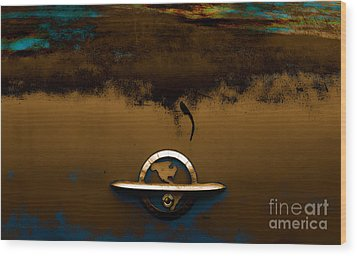 The Paint Of Corrosion  Wood Print by Steven  Digman