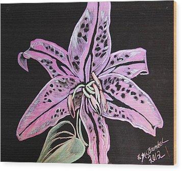 The Painted Lady Wood Print by Lisa Brandel