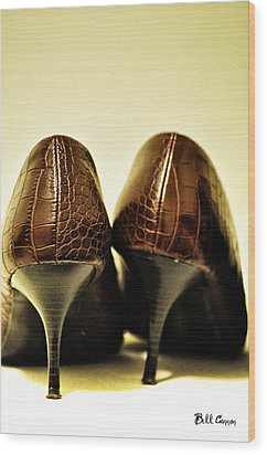 The Pair Wood Print by Bill Cannon