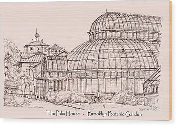 The Palm House In Pink Wood Print by Adendorff Design