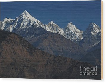 Wood Print featuring the photograph The Panchchuli Range by Fotosas Photography