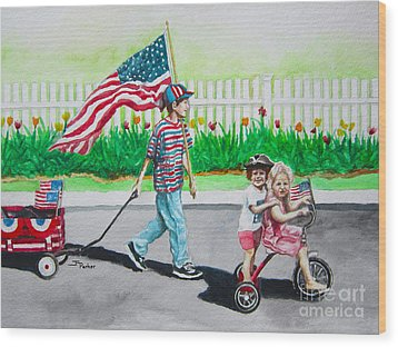 The Parade Wood Print by Parker Jim