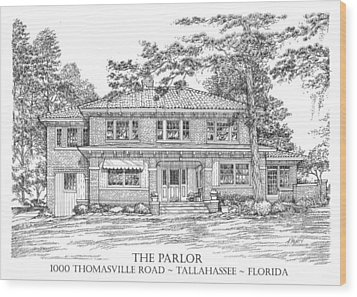 The Parlor Tallahassee Florida Wood Print