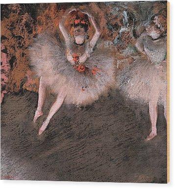 The Pas Battu Wood Print by Edgar Degas