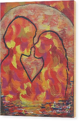 The Passion Of Romance Wood Print by Evolve And Express