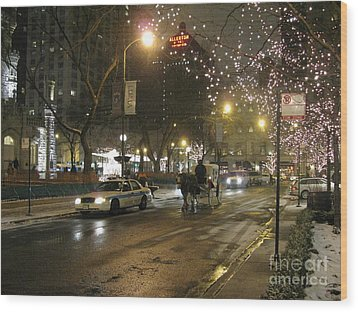 Wood Print featuring the photograph The Past Meets The Present In Chicago Il by Ausra Huntington nee Paulauskaite