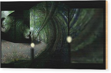 Wood Print featuring the mixed media The Path by Rc Rcd
