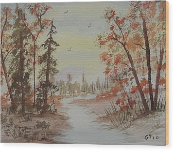 The Pathway Wood Print by Ginny Youngblood