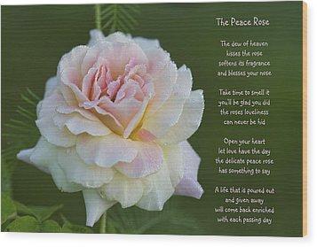 The Peace Rose Wood Print