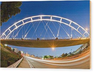 The Pedestrian Bridge Wood Print