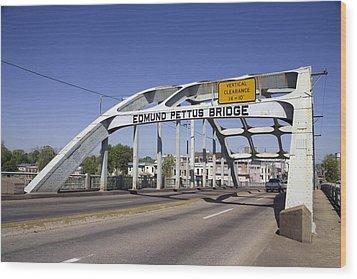 The Pettus Bridge In Selma Alabama Wood Print by Everett