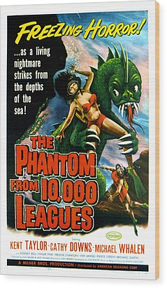 The Phantom From 10,000 Leagues, Poster Wood Print by Everett