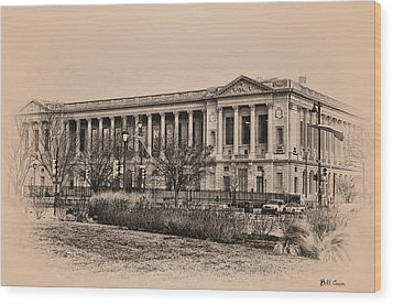 The Philadelphia Free Library Wood Print by Bill Cannon