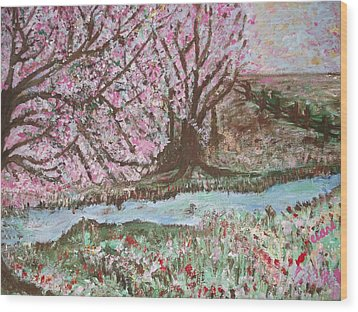 The Pink Tree Wood Print