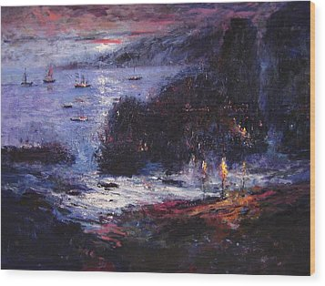 The Pirates Make Home Port Wood Print by R W Goetting