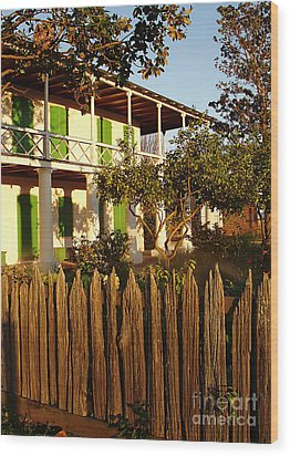 Wood Print featuring the photograph The Pitot House With Wood Fence by Jeanne  Woods
