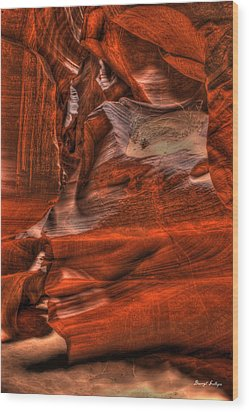 The Place Where Water Runs Through Rocks Wood Print by Darryl Gallegos