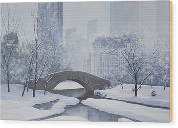 The Plaza Wood Print