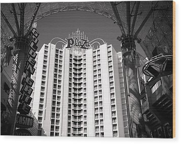The Plaza Las Vegas  Wood Print by Susan Stone