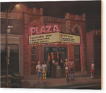 The Plaza Wood Print by Tom Shropshire