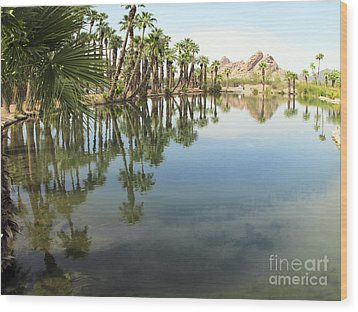 Wood Print featuring the photograph The Pond by Leslie Hunziker