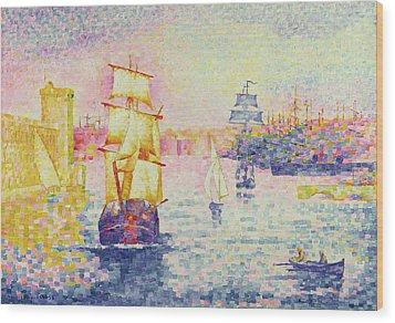 The Port Of Marseilles Wood Print by Henri-Edmond Cross