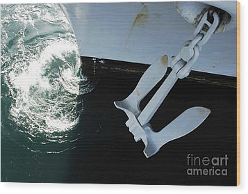 The Port Side Mark II Stockless Anchor Wood Print by Stocktrek Images