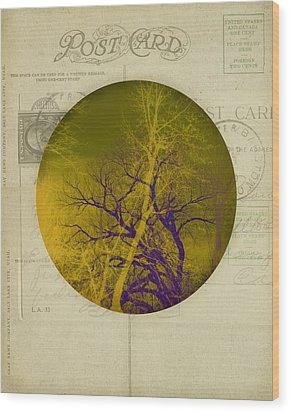 The Postcard Wood Print by Ann Powell
