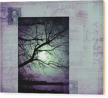 The Postcard IIi Wood Print by Ann Powell