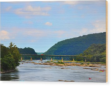 The Potomic River West Virginia Wood Print by Bill Cannon