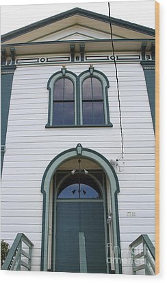 The Potter School House . Bodega Bay . Town Of Bodega . California . 7d12480 Wood Print by Wingsdomain Art and Photography