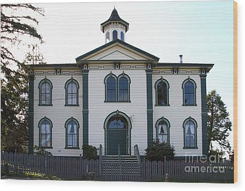 The Potter School House . Bodega Bay . Town Of Bodega . California . 7d12487 Wood Print by Wingsdomain Art and Photography