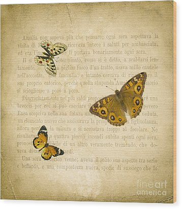 The Printed Page 1 Wood Print by Jan Bickerton
