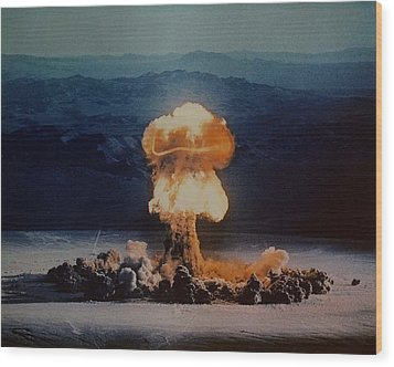 The Priscilla Shot Was A 37 Kiloton Wood Print by Everett