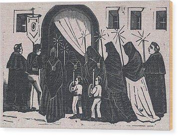 The Procession, By Antonio Vanegas Wood Print by Everett
