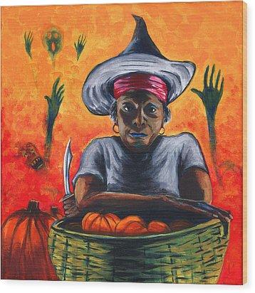 The Pumpkin Vendor  Wood Print
