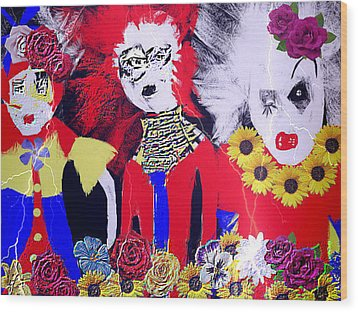'the Punks 'come Out To Play Wood Print by Rc Rcd