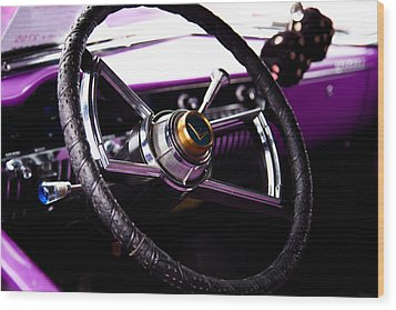 The Purple 1950 Mercury Wood Print by David Patterson