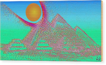 The Pyramids Wood Print by Helmut Rottler