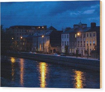 The Quay's Wood Print by Debra Collins