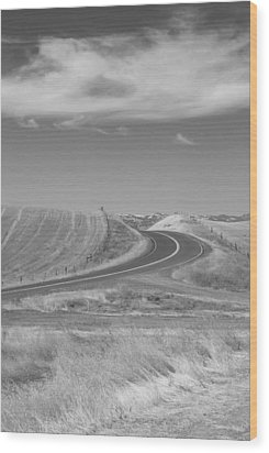 Wood Print featuring the photograph The Quiet Road by Kathleen Grace