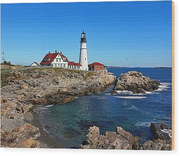 The Quintessential Maine Wood Print by Lanis Rossi