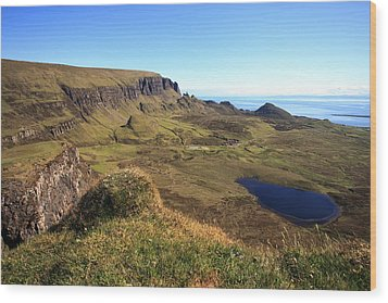 The Quiraing Isle Of Skye Wood Print by Fiona Messenger