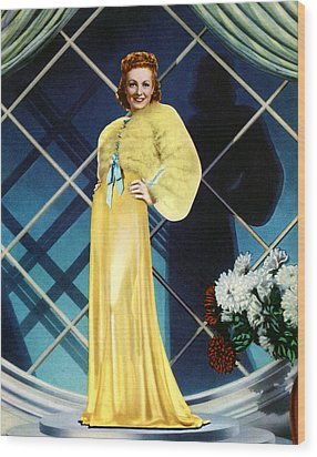 The Rage Of Paris, Danielle Darrieux Wood Print by Everett