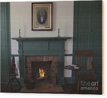 The Rankin Home Fireplace Wood Print by Charles Robinson
